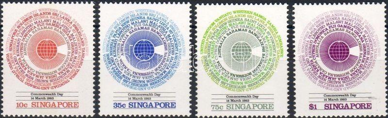 Singapore stamp Commonwealth Day set 1983 MNH Mi 418-421 WS6225