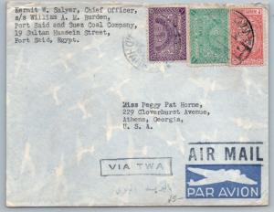 GOLDPATH: Saudi Arabia cover,  1948-65, To Athens GA USA, CBHW_07_03