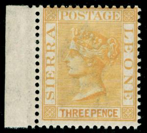 SIERRA LEONE SG32, 3d yellow, LH MINT.