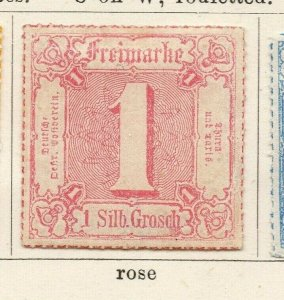 Tour & Taxis 1865-66 Early Issue Fine Mint Hinged 1s. NW-04578