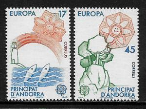 Andorra, Spanish #173-4 MNH Set - 1986 Europa