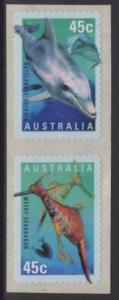AUSTRALIA SG1829/30 1998 YEAR OF THE OCEAN SELF ADHESIVES MNH