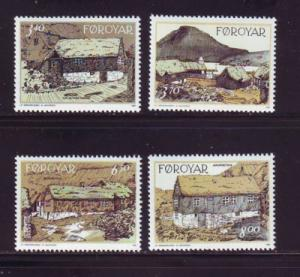 Faroe Islands Sc 243-6 1992 Traditional Houses stamps mint