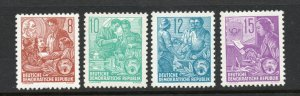 DDR - SC# 190 - 193 MNH / Re- Engraved   -   Lot 0320607