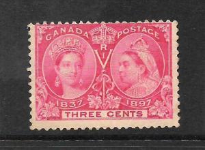 CANADA 1897  3c  JUBILEE    MNH    Sc 53