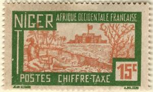 French Niger Postage Due (Scott J13) Mint F-VF hr...Buy before prices go up!