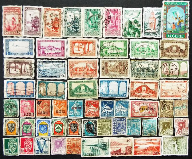 COLLECTION OF STAMPS FROM ALGERIA