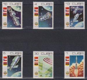 Cuba MNH Set Of 6 Space 1979