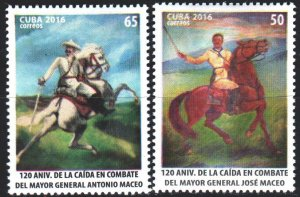 Cuba. 2016. 6175-76. The anniversary of the death of General Grahalez, the ho...