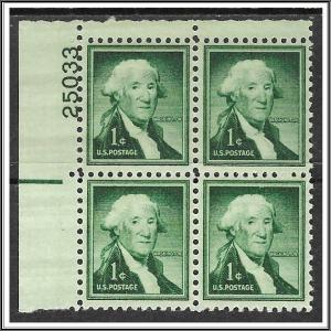 US Plate Block #1031b Washington Liberty Series MNH