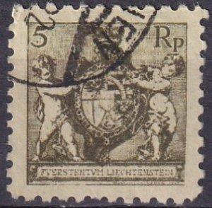 Liechtenstein #57a  F-VF Used CV $27.50  (Z3146)