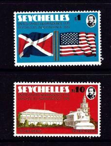 Seychelles 351-52 MNH 1976 U.S. Bicentennial