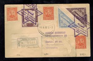 1932 Paraguay Graf Zeppelin Registe Cover to Berlin Germany LZ 127 Star of David