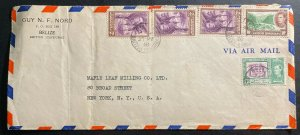 1938 Belize British Honduras Airmail Commercial cover To New York USA