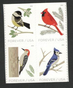 5317-20 Birds In Winter Block Of 4 Mint/nh FREE SHIPPING