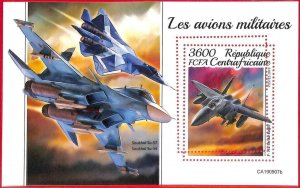 A1637 - CENTRAL AFRICAN R - ERROR: MISSPERF S/S - 2019, Military, War airplanes