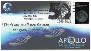 19-197, 2019, Moon Landing, Pictorial Postmark, Event Cover, Apollo 11,Washingto