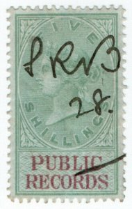(I.B) QV Revenue : Public Records 5/- (1881)
