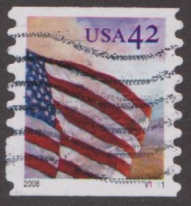 US #4242 Flag at Dawn Used PNC Single plate #V1111