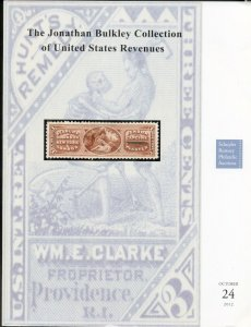BULKLEY COLLECTION CATALOG UNITED STATES REVENUES 2012 RUMSEY AUCTIONS