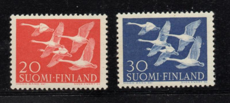 Finland Sc 343-4 1956  Swans Northern Countries stamp set  mint NH