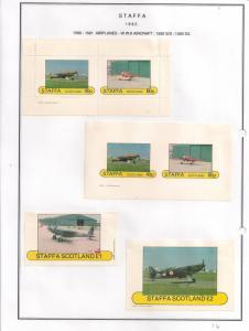 SCOTLAND - STAFFA - 1982 - WWII Aircraft - Perf. Imp 2v, Souv, D/L Sheets -MLH