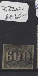 BRAZIL (P2302BB)   NUMERAL  600R  SC 28         VFU   COPY 3