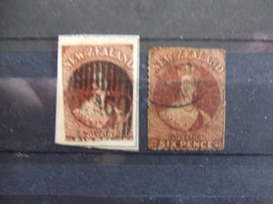 New Zealand QV 6d imperf & rouletted