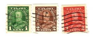 Canada Sc 228-0 1935 GV coil stamps used