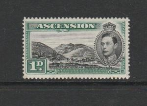 Ascension 1938/53 1d Black & Green, Green Mountain, LMM, SG 39