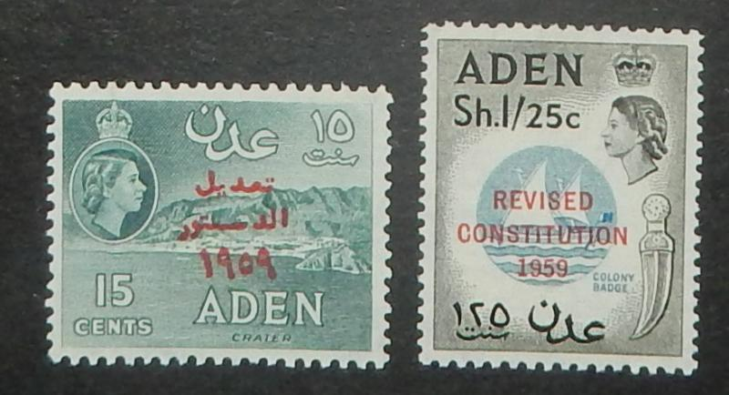 Aden 63-64. 1959 Revised Constitution, NH
