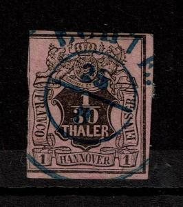 Hanover SC# 3, Used, sm Page Remnant (Noted as Mi# 3b) - S4288