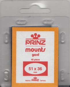 PRINZ BLACK MOUNTS 51X36 (40) RETAIL PRICE $6.50