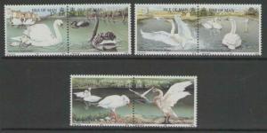 ISLE OF MAN SG490/5 1991 SWANS MNH