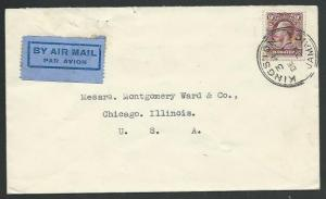 JAMAICA 1935 GV 9d single franking on airmail cover to USA.................61025