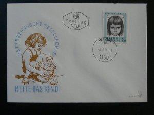 child children care FDC 1966 Austria 97960