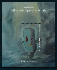 [22229] Dominica 1993 Disney Willie the Whale In heaven MNH