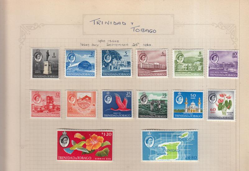 TRINIDAD 1960 SET VALUES TO $4.80 MOUNTED MINT