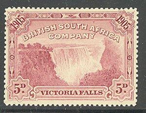 Rhodesia 1905 5d Magenta Victoria Falls Sc# 78 mint