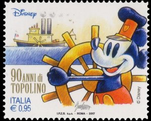 Italy 2017 Mickey Mouse drives the boat mint**
