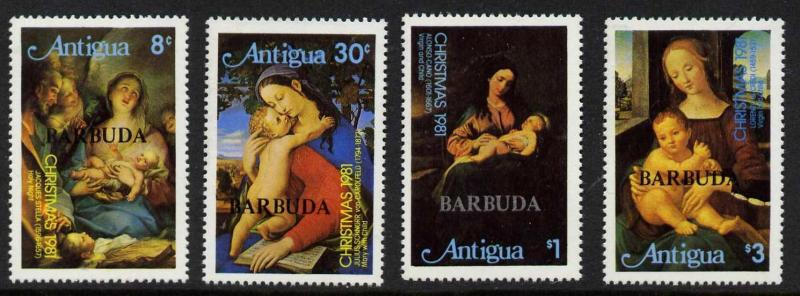 Barbuda 527-31 MNH Christmas, Art, Paintings