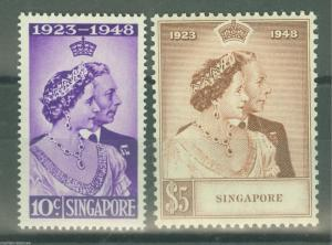 SINGAPORE SCOTT#21/22  MINT NH FULL ORIGINAL GUM