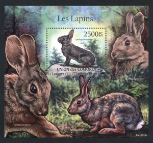 Comoro Islands MNH S/S Rabbits 2011