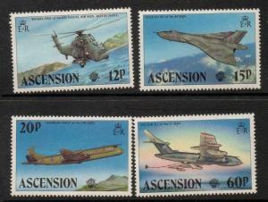 ASCENSION SG341/4 1983 BRITISH MILITARY AIRCRAFT MNH