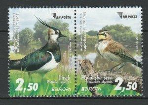 Bosnia and Herzegovina 2019 CEPT Europa Birds 2 MNH stamps