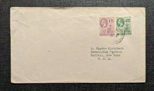 1935 Montserrat Cover to Buffalo New York USA