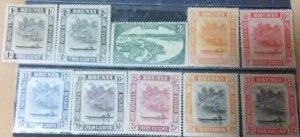 Brunei Scott #62-68 * lh (1947)