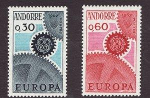 Sc# 174-75 - French Andorra - 1967 - Europa - MNH - superfleas - cv$10.75