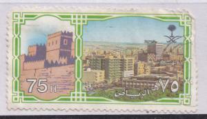 SAUDI ARABIA  1983 SINGLE STAMP 75H RIYDH CITY OLD AND MODERN HOUSES USED