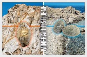 2018 Croatia Minerals and Rocks  SS   (Scott 1089) MNH